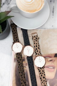 """Ernest horloge """"Rosé-Andrea-Cheetah"""" grijs"""