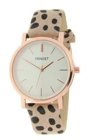 "Ernest horloge ""Rosé-Andrea-Cheetah"" beige"