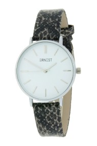 "Ernest horloge Silver-Cindy-Medium-Python"" grijs"