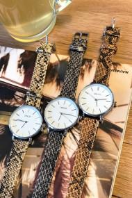 """Ernest horloge Silver-Cindy-Medium-Python"""" beige"""