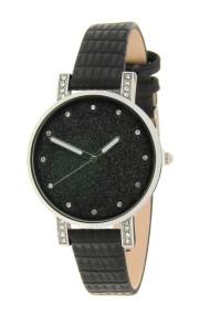 "Ernest horloge ""Livia-Croco"" zwart"