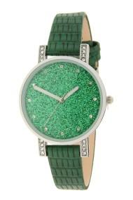 "Ernest horloge ""Livia-Croco"" groen"