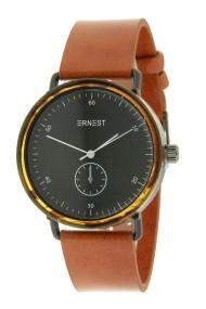 "Ernest horloge ""Teagan"" camel-zwart"