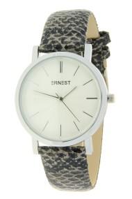 """Ernest horloge """"Silver-Andrea-Croco"""" grijs"""