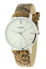 """Ernest horloge """"Silver-Andrea-Croco"""" camel"""