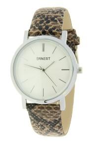 """Ernest horloge """"Silver-Andrea-Croco"""" bruin"""