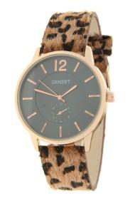 """Ernest horloge """"Rosé-Brandy-Leopard"""" bruin"""