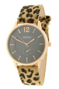 """Ernest horloge """"Rosé-Brandy-Leopard"""" camel"""