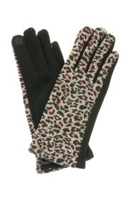 "Handschoenen ""Leopard"" bordeaux"