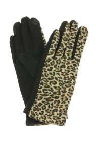 """Handschoenen """"Leopard"""" taupe"""