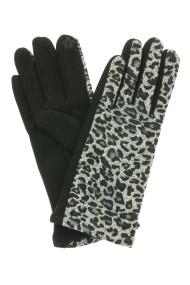 """Handschoenen """"Leopard"""" grijs"""