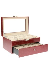 "Display ""Croco luxe box"" bordeaux-creme"