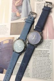 "Ernest horloge ""Nicola"" jeansblauw"