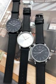 "Ernest horloge ""New-Elegance"" zwart-zilver"