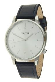 "Ernest horloge ""New-Elegance"" blauw-zilver"