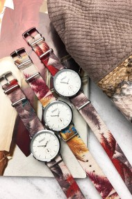 """Ernest horloge """"Fora"""" rood"""