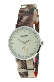 "Ernest horloge ""Fora"" taupe"