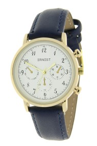 "Ernest horloge ""Vintage Vera"" donkerblauw"