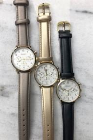 """Ernest horloge """"Vintage Vera"""" metallic grijs"""