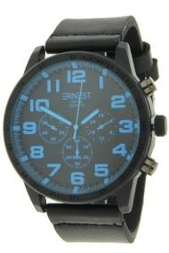"""Ernest herenhorloge """"Cameron"""" zwart-blauw"""