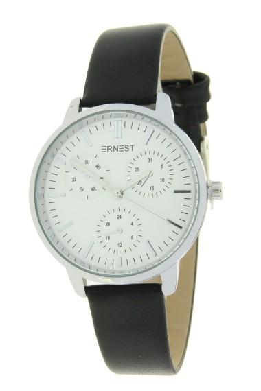 "Ernest horloge ""Luna"" zwart"