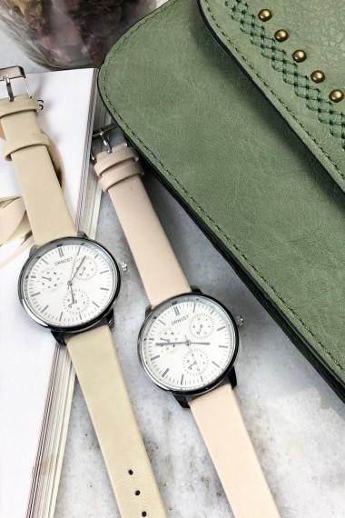 """Ernest horloge """"Luna"""" beige"""