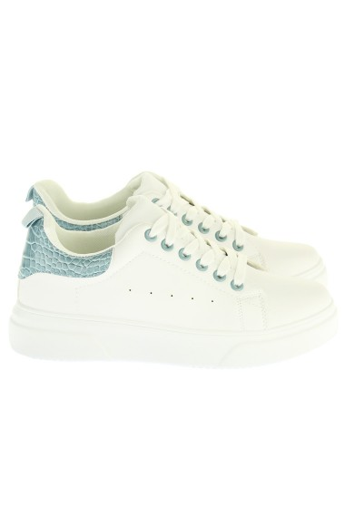 """Sneakers """"Touring"""" wit-blauw"""