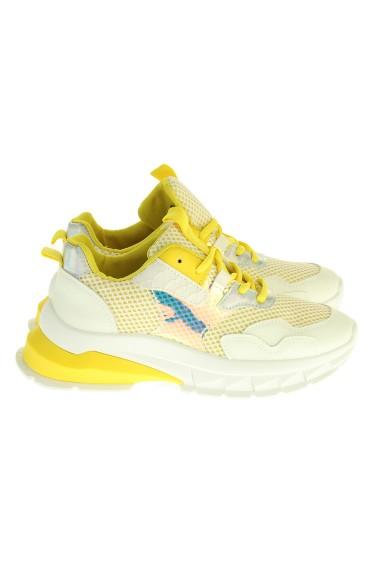 """Sneakers """"Slide"""" geel"""