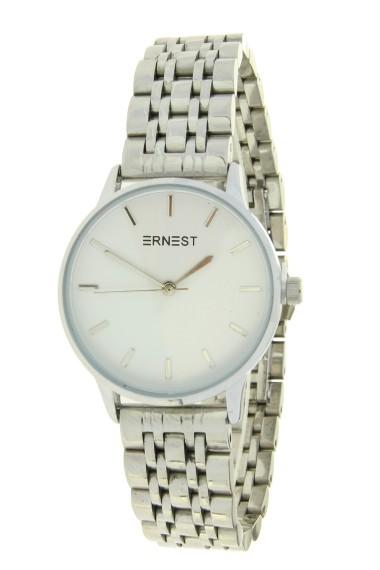 """Ernest horloge """"Leah"""" zilver-wit"""