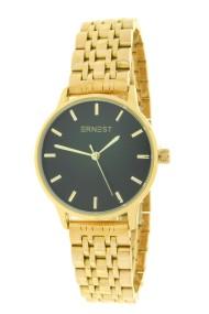 "Ernest horloge ""Leah"" goud-zwart"