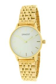 """Ernest horloge """"Leah"""" goud-wit"""