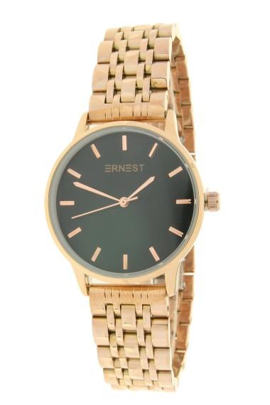 "Ernest horloge ""Leah"" rosé-zwart"