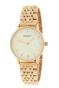 """Ernest horloge """"Leah"""" rosé-wit"""
