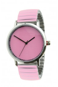 "Ernest horloge ""Fancy Plain"" pink"