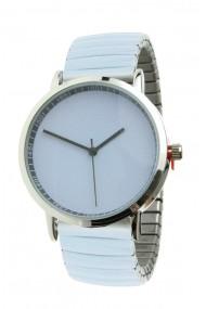 "Ernest horloge ""Fancy Plain"" blauw-grijs"