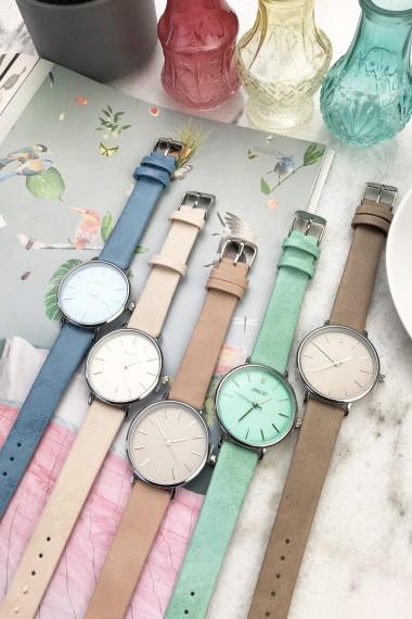 Ernest horloge Silver-Cindy-Medium SS20 summerblue