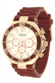 """Ernest horloge """"Rosé"""" mocca"""