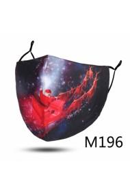 """Kerst mondkapje """"M196"""" kerstman met rendieren"""