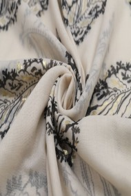 """Sjaal """"Feathers"""" taupe"""