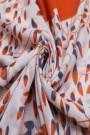 "Sjaal ""Soft Leaves"" oranje"
