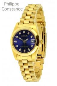 """Philippe Constance """"Mini gold"""" stones blue"""
