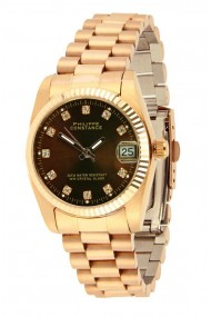 """Philippe Constance """"Large Serrated Rosé"""" stones brown"""