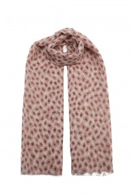"""Sjaal """"Gold Leopards"""" pink"""
