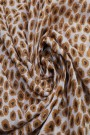 """Sjaal """"Gold Leopards"""" taupe"""