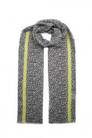 """Sjaal """"Mini Leopards"""" grijs-geel"""