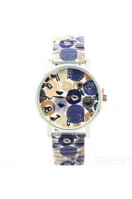 """Ernest horloge """"Stones"""" blauw"""