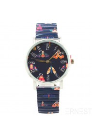 "Ernest horloge ""Butterfly"" donkerblauw"