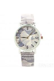 """Ernest horloge """"Big Leave"""" grijs"""