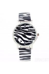 """Ernest horloge """"Zebra"""" zwart-wit"""