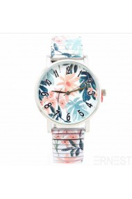 """Ernest horloge """"Palm"""" pink-wit"""